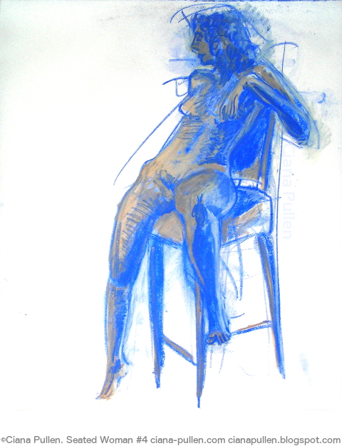 Seated Woman 4, Drawing from 2010 by Ciana Pullen; Dimensions: 18 inches × 24 inches × 0 inch; Materials: Chalk Pastel on Paper; Description:  © Ciana Pullen 2010