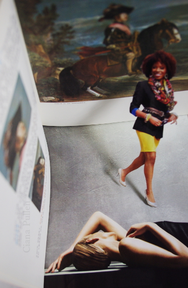 Strong Characters Illusions of Grandeur,  from 2012 by Ciana Pullen; Dimensions:  ×  × ; Materials: Digital Photo-Collage on ; Description: The Strong Characters series explores a White American and European fantasy of people of color as outlets for expressing that which is stifling and oppressive in Western colonialist culture, and the simultaneous fear and jealousy toward people of color who resist that fantasy. It explores common 'Sassy' 'Strong Woman' and 'Badass' tropes as white fantasies, and explores the source of desire for these fantasies in Western culture and history.<br/><br/>A physical collage was assembled and the resulting diorama was digitally photographed. © Ciana Pullen 2012